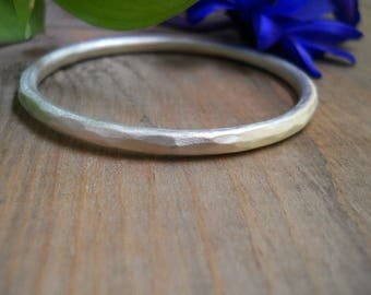 chunky sterling silver bangle, chunky bracelet, hammered bracelet, tribal bangle, tribal jewelry, chunky boho bracelet, thick silver bangle