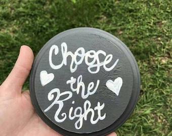 Choose the Right painting, art, LDS Mormon inspirational decor, CTR, Christian baptism
