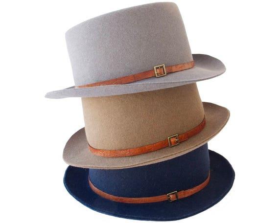 Pork Pie Men's Hat Fall Fashion Spring Accessories Boater Hat Felt Hat Canotiers Hat Jazz Hat Blues Hat Rocker Hat Gondoliers Hat SALE