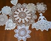 Crochet Antebellum and Doilies.....Ten Pieces