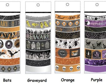 Martha Stewart Halloween Washi Tape Assortments | Craft Tape | Scrapbooking Craft Supplies