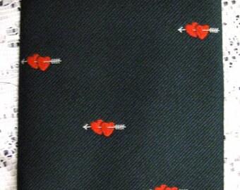 Men's Valentines Day Wembley Necktie - Red Hearts - Vintage