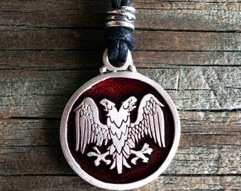 Double Headed Eagle Pewter Pendant
