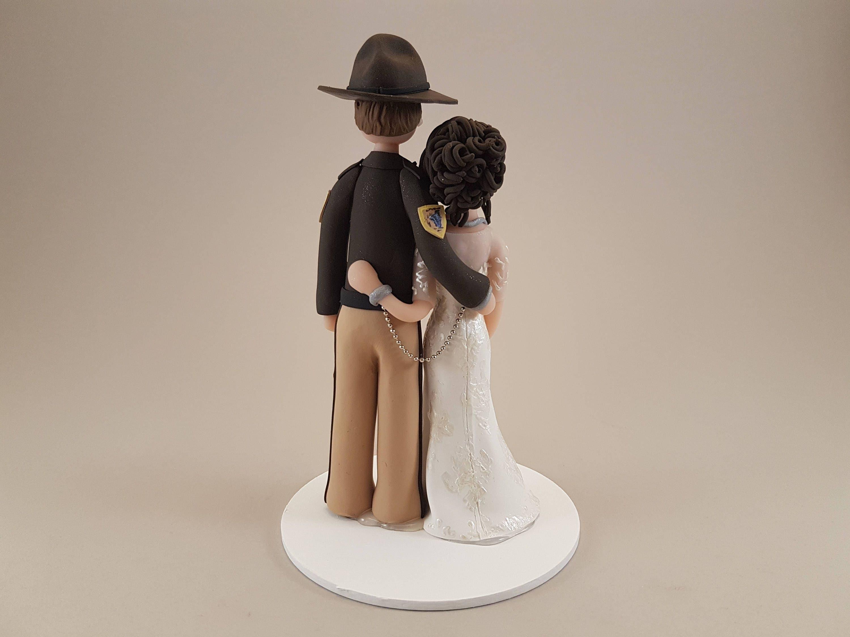 Unique Cake Toppers - Nurse & Sheriff Deputy Customized Wedding Cake ...