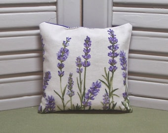 Lavender, lavender sachet, floral fabric, lavender pillow, scented drawer sachet, filled with 100% dried lavender for a lovely, fresh scent