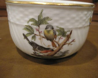 Vintage Herend Rothchild Bird Open Sugar Bowl