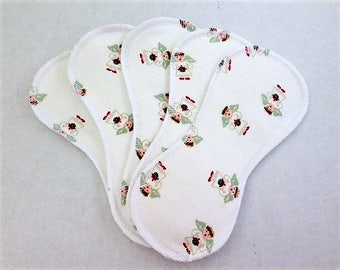 5 Wingless Contour Cloth Panty Liners -  Angels on White