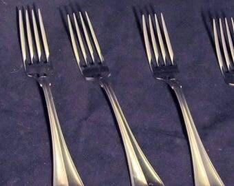 "Towle 8 1/2 "" Dinner Fork Hamilton Pattern, Stainless ,Satin Finish, 18/8    Vintage Flatwear"