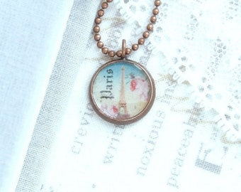 Eiffel Tower Charm Necklace Layering Necklace Paris Necklace Small Charm Necklace Eiffel Tower Gift