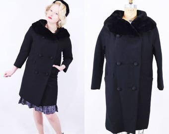 Black 60s coat