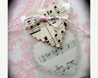 ON SALE 1 Dozen Pretty Music Scallop Hearts