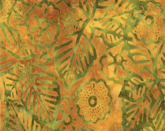 SALE Papaya Exotic Blooms Fabric - Moda - Cabana Batiks