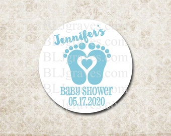 Custom Baby Shower Stickers Thank You Stickers Labels Party Favor Treat Bag Sticker SB020