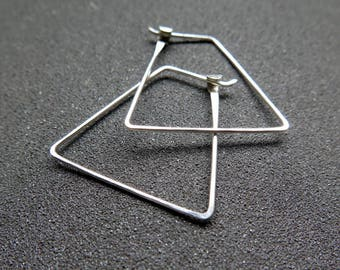 triangle hoop earrings. triangle hoops. geometric jewelry. splurge.