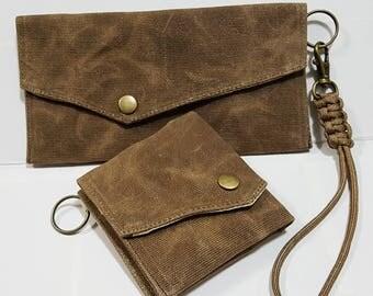 2 Ways Flap Wallet, Travel wallet, Passport Pouch, Phone Case, Canvas Wallet, Chain Wallet, Bridesmaids Gifts, Gift Under USD15 - FL