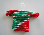 Crochet Traditional Ugly Sweater Christmas Ornament