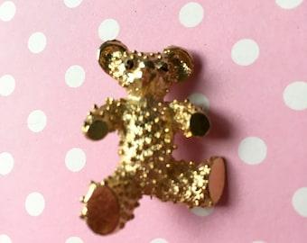 Vintage Signed Teddy Bear Pin Brooch Gerry's
