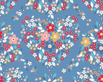 Forget Me Not Blue Floral Fabric from Tammie Green for Riley Blake Fabrics sold in 1/2 yard increments