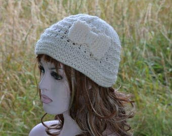 Womens Bow Beanie Hat, Knit Hat, Chunky Knit, Uk Hat, Pick Colour, Accessory, Fashion, Winter, Fall