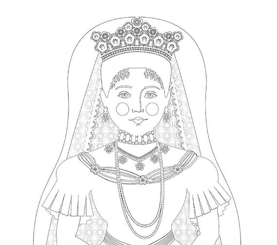 Alexandra Feodorovna Romanova Doll Coloring Sheet Printable