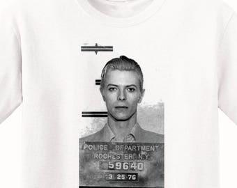 David Bowie's Mugshot 1976 Men's T-Shirt