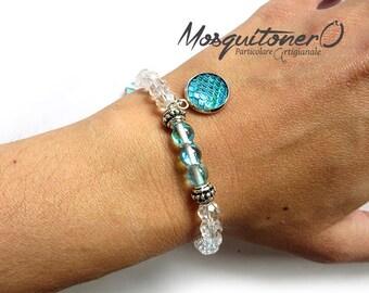 Bracelet, mermaid bracelet, Little Mermaid, women's gift, for her, beaded bracelet, boho bracelet, nautical, scales pendant