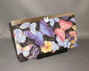 Wallet - DIVA Wallet - Clutch Wallet - Butterfly - Purple - Antique Brass
