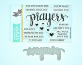 Simon Says Stamp PRAYERS Clear Stamp & Cutting Die Set