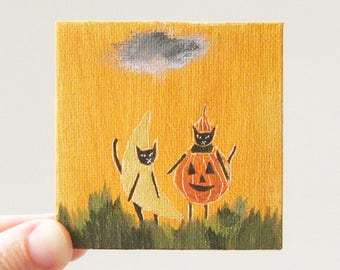let's go to a costume party / original painting on canvas