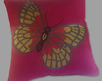 sunbrella indoor outdoor pillows embroidery butterfly recicled fiber