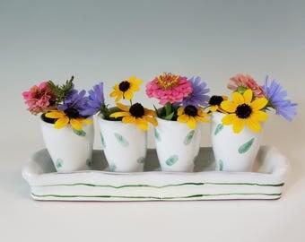 Table vase 4 part