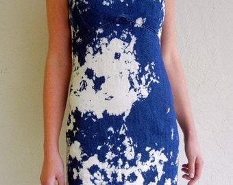 40% OFF Tie Dyed Denim Grunge Dress