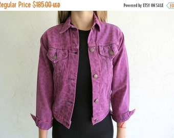 40% OFF The Levi's Leopard Print Lasered Fuschia Dyed Denim Jacket