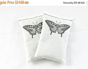 SALE Butterfly No. 5 Lavender Sachets, Butterfly Wedding Bridesmaid Gift, Minimalist Home Decor