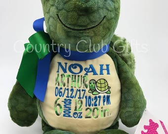 Personalized Baby Gift, Baby Shower Gift, Turtle, Personalized Gift, Personalized, Birth announcement, birth stats, boy or girl