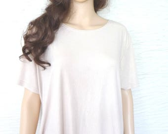 Vintage Top, Vintage Clothing, Jonden, Womens Top, Size 1X, Gold Sheen Top, Polyester Spandex, Vintage Top, Short Sleeves, Womens Gold Shirt