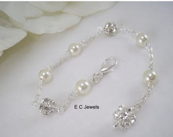 Summer Sale Elegance, Pearl and Rhinestone Back Drop Extension - Add On