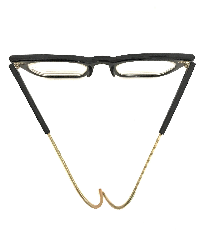 BiG Vintage 50s 60s Black Wayfarer Eyeglasses Frame Sunglasses Cable ...