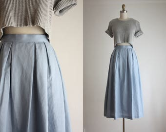fairest blue maxi skirt