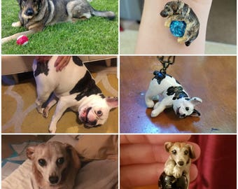 Custom Dog Necklace Pet Portrait