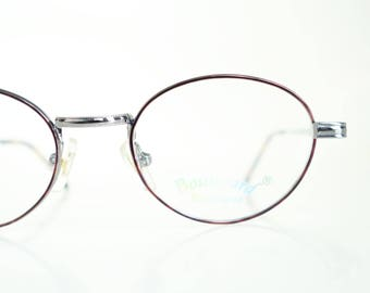 1980s Wire Rim Glasses Womens Reading Eyeglasses Metallic Gold Tortoiseshell Metallic Shiny 80s Eighties Deadstock NOS New Old Stock Chrome