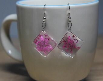 Crystal Dried Flower Earrings