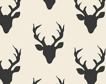 Remnant end of bolt 14 inches Hello Bear Buck Forest Night Art Gallery Fabric