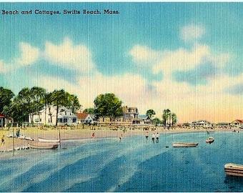Vintage Cape Cod Postcard - Swifts Beach in Wareham (Unused)