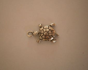 Sea Turtle Charm, Silver Charm, Sterling Silver Turtle Charm
