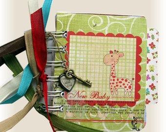 Baby Album, Baby Shower Gift, Baby Scrapbook, Brag Book, Baby Photo Book,  Infant, Newborn Scrapbook, Mini Album-Tag Book-Ready to Ship
