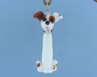 Jack Russell  Ornament or Pendant - Lampwork Glass Creation - SRA