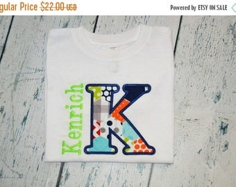 ON SALE Personalized Initial and Name Shirt or Bodysuit