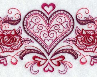 VINTAGE VALENTINES  on Ladies' Tee or Sweat by Rosemary