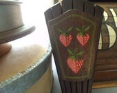 Vintage Chunky Knife block with Strawberry graphics ~ Strawberries ~ Country Farm House Kitchen